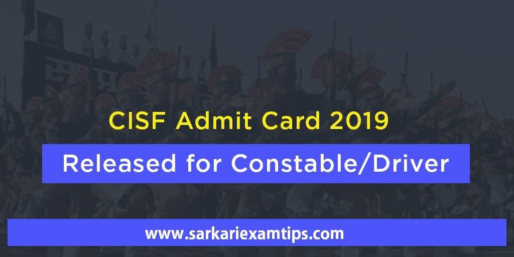 CISF Constable/ Driver & DCPO Exam
